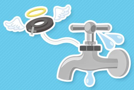 蛇口の水漏れ原因はパッキン?どう対処する?:イメージ