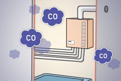 給湯器による一酸化炭素中毒に要注意!予防と対策:イメージ