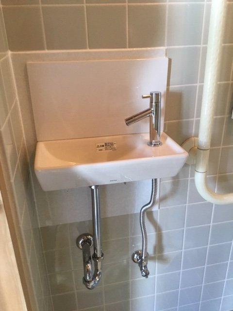 20190415_025 トイレ手洗い器交換 滋賀県大津市:施工実績