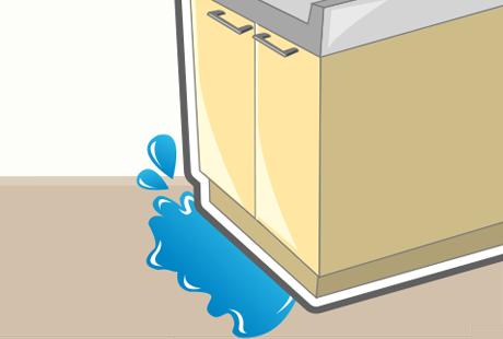 キッチン排水管の水漏れで床が濡れてしまった時の応急処置と対処方法とは?:イメージ