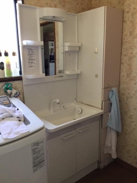 20190520_072 洗面台交換 滋賀県野洲市:施工実績